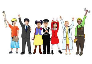 Happy Children and Dream Job Concepts